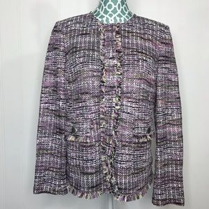 St. John Collection Anna Woven Jacket Size 10